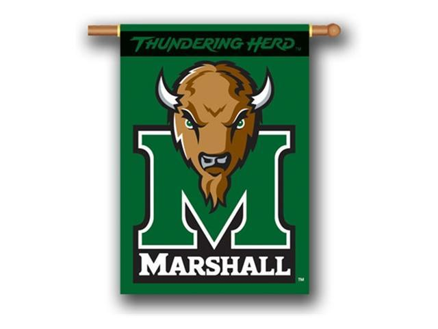 Bsi Products 96035 2-Sided 28'' X 40'' Banner W/ Pole Sleeve - Marshall Thundering Herd