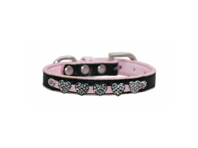 Hip Doggie HD-4PDHC-S Small Pink Diamond Heart Collar