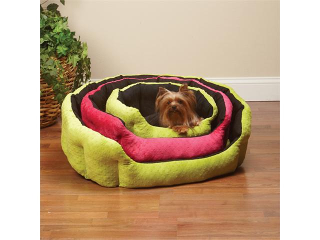 Pet Pals ZW405 26 44 SP Dimple Plush Nesting Bed 26 In Black-Green P