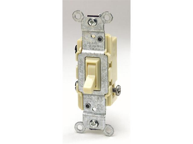 Leviton Ivory Residential Grade 3-Way AC Quiet Switches Toggle  214-1453-21