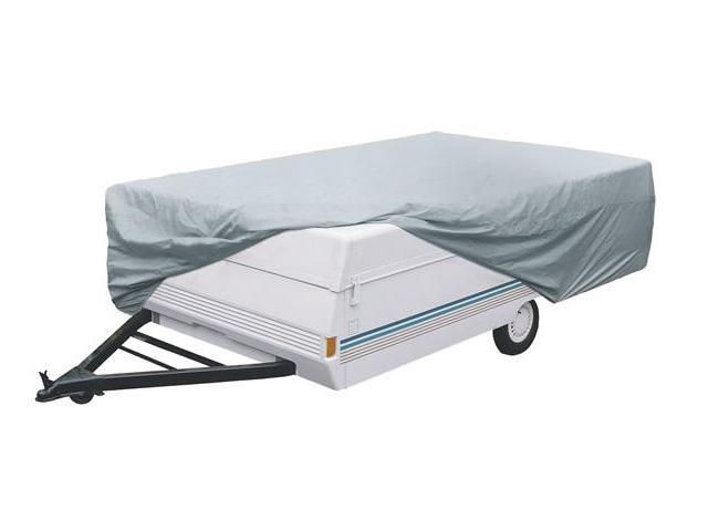 Classic Accessories 80-039-153106-00 Deluxe Folding Camping Trailer Cover - Model 2 - Gray and White