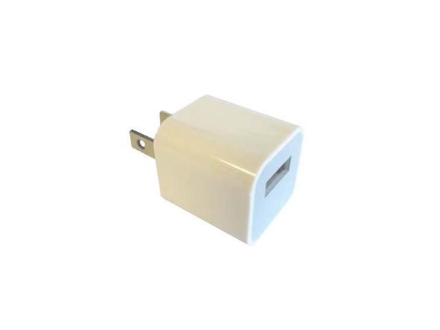 Professional Cable USB Wall Charger for iPod/iPhone White 1ft Clamshell