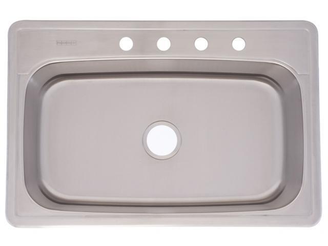 Franke Kindred 33in. X 22in. X 8in. Radiant Silk Single Bowl Top Mount Kitchen Sink FS
