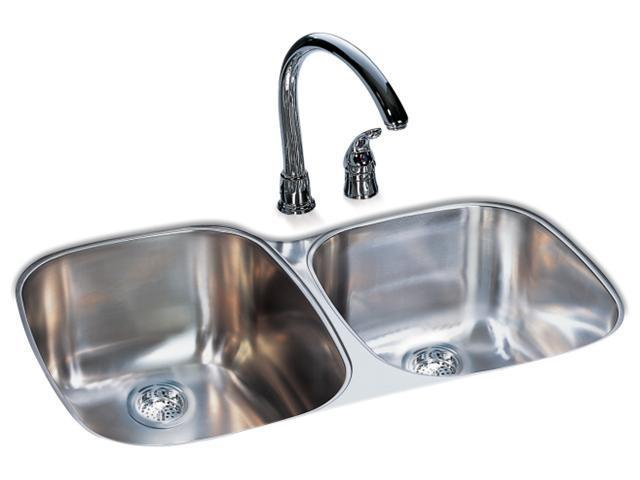 Franke Kindred 9in. Radiant Silk Double Bowl Undermount Sink  UOSK900-18