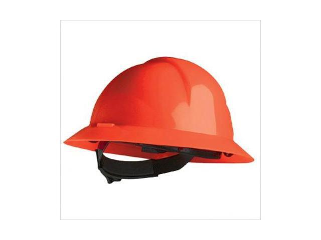 North Safety 068-A49R150000 A-Safe Red Full Brim Safety Hat Slotted