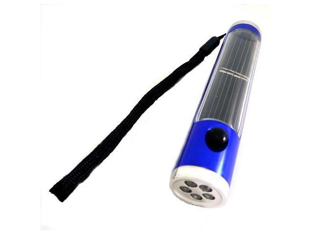 Garden Sun Light GSL-S044 Hiking Solar Adventure Powered Flash Light & Compass- Blue