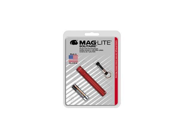 Maglite K3A036 Solitaire Blister Pack - Red