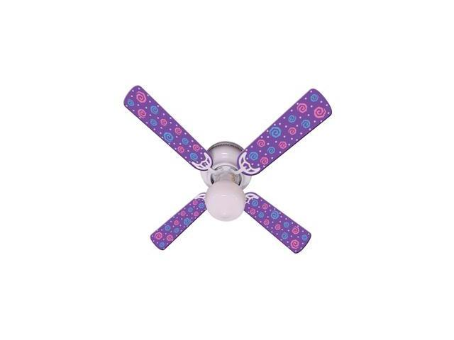 Ceiling Fan Designers 42FAN-IMA-KPPP Kids Purple Party Pops Ceiling Fan 42 In.