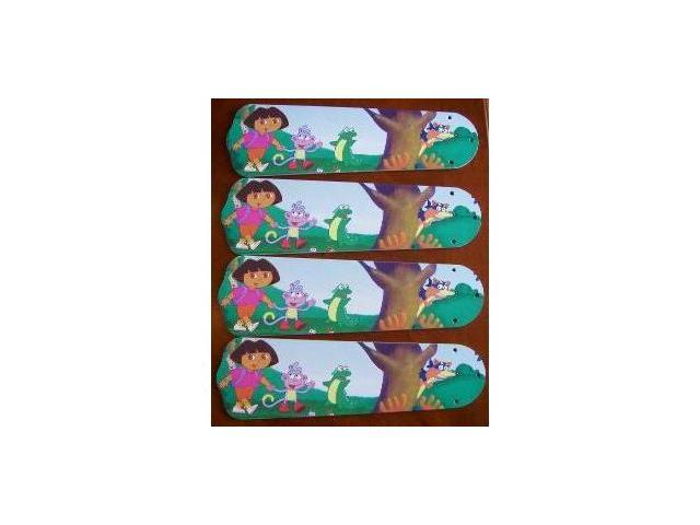 Ceiling Fan Designers 42SET-KIDS-DTEB Dora The Explorer & Boots 42 in. Ceiling Fan Blades Only