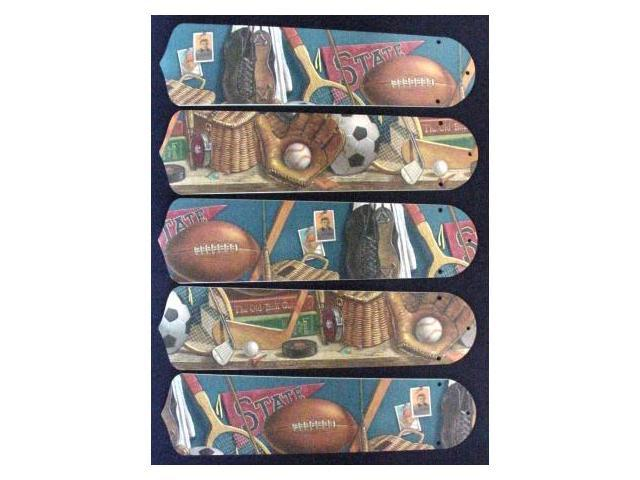 Ceiling Fan Designers 52SET-KIDS-CS Classic Sports 52 in. Ceiling Fan Blades Only