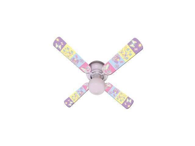 Ceiling Fan Designers 42FAN-IMA-KHW Baby Nursery Happy Wings Ceiling Fan 42 In.