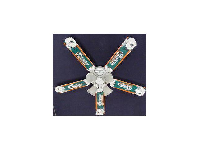Ceiling Fan Designers 52FAN-NFL-MIA NFL Miami Dolphins Football Ceiling Fan 52 In.