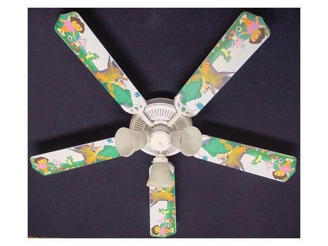 Ceiling Fan Designers 52FAN-KIDS-DTEB Dora The Explorer & Boots Ceiling Fan 52 in.