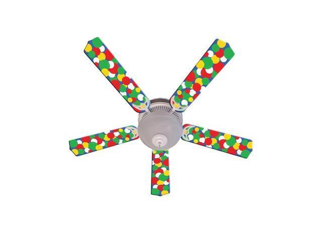 Ceiling Fan Designers 52FAN-IMA-KBBD Kids Light Bright Dots Ceiling Fan 52 In.