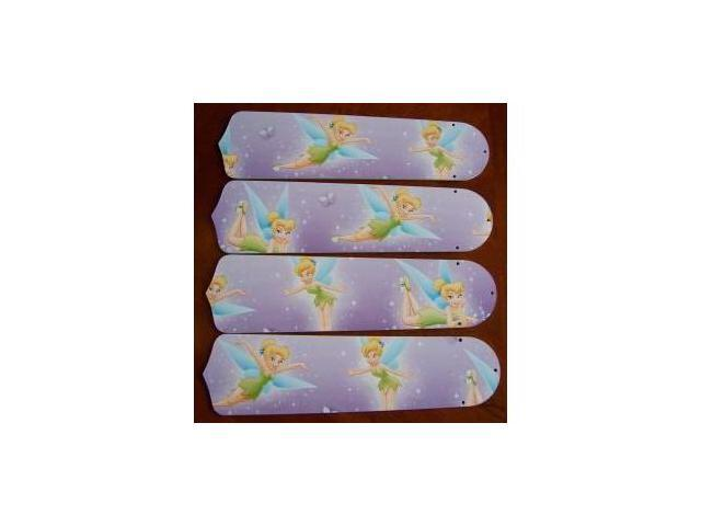 Ceiling Fan Designers 42SET-DIS-TPFP Tinkerbell Fairy Purple 42 in. Ceiling Fan Blades Only