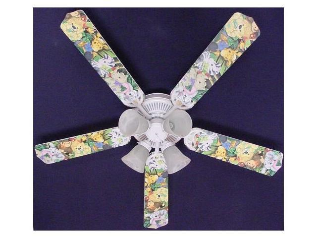 Ceiling Fan Designers 52FAN-KIDS-ZBAJ Zootles Baby Animals Jungle Ceiling Fan 52 in.