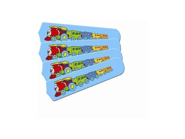Ceiling Fan Designers 42SET-IMA-KTCC Kids Train Choo Choo 42 In. Ceiling Fan Blades Only