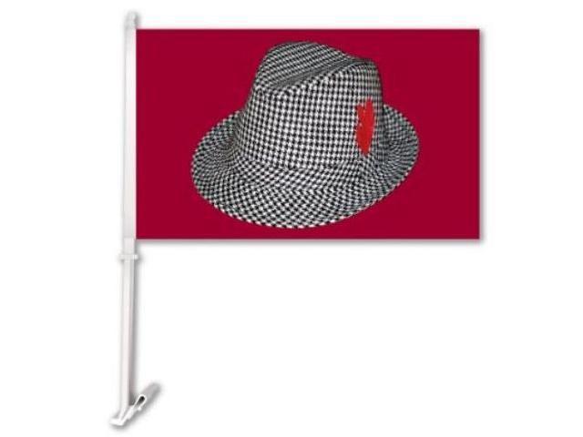Bsi Products 97902 Car Flag W/Wall Brackett  - Alabama Crimson Tide