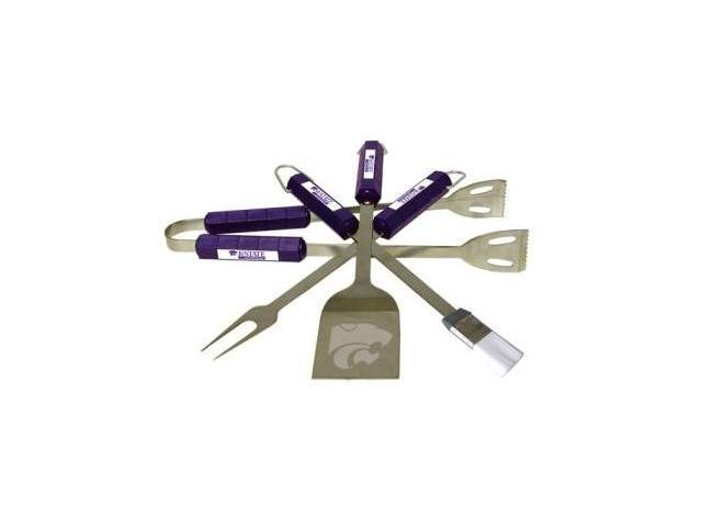 Bsi Products 61018 4 Pc Bbq Set - Kansas State Wildcats