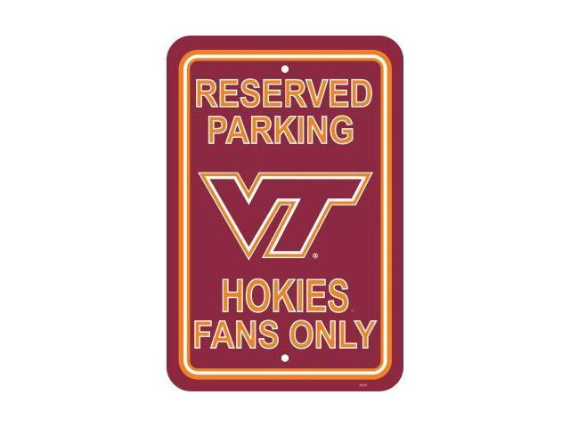 Fremont Die 50276 Virginia Tech Hokies- 12 in. X 18 in. Plastic Parking Sign