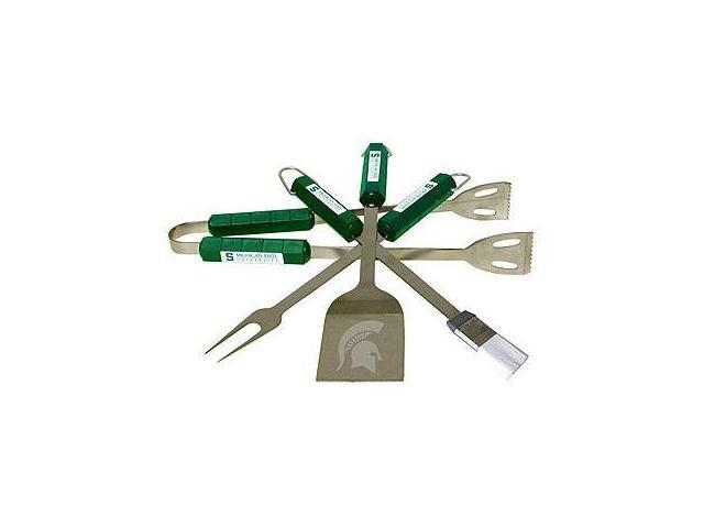 Bsi Products 61029 4 Pc Bbq Set - Michigan State Spartans