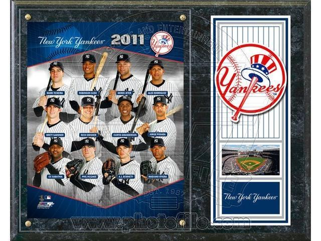 C & I Collectables 1215NYY11 MLB New York Yankees 2011 Team Plaque