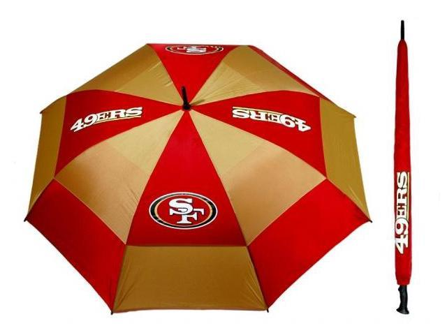 Team Golf 32769 San Fransisco 49ERS 62 in. Double Canopy Umbrella