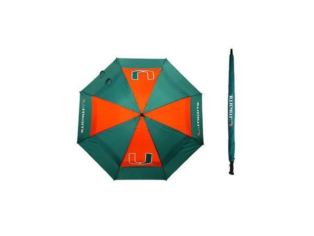 Team Golf 47169 Miami Hurricanes 62 in. Double Canopy Umbrella