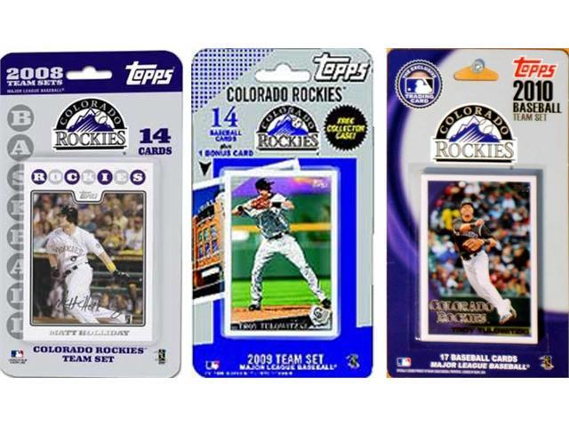 C & I Collectables ROCKIES3TS MLB Colorado Rockies 3 Different Licensed Trading Card Team Sets