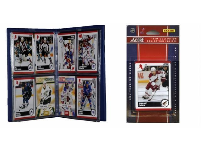 C & I Collectables 2010COYOTESTS NHL Phoenix Coyotes Licensed 2010 Score Team Set and Storage Album