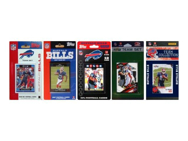 C & I Collectables BILLS5TS NFL Buffalo Bills 5 Different Licensed Trading Card Team Sets
