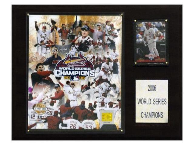 C & I Collectables 1215WS06GD MLB Cardinals 2006 World Series Limited Edition Champions Plaque