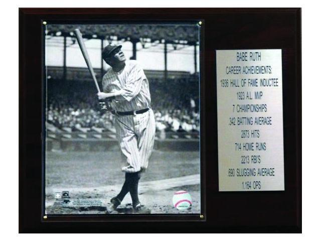 C & I Collectables 1215RUTHST MLB Babe Ruth New York Yankees Career Stat Plaque