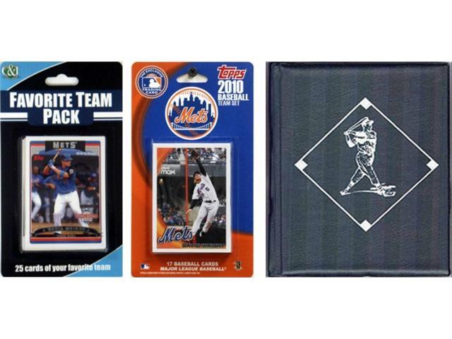C & I Collectables 2010METSTSC MLB New York Mets Licensed 2010 Topps Team Set and Favorite Player Trading Cards Plus Storage Album