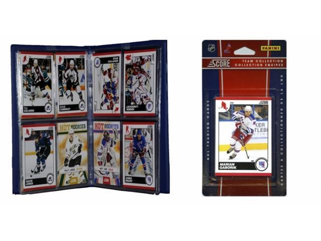 C & I Collectables 2010NYRTS NHL New York Rangers Licensed 2010 Score Team Set and Storage Album