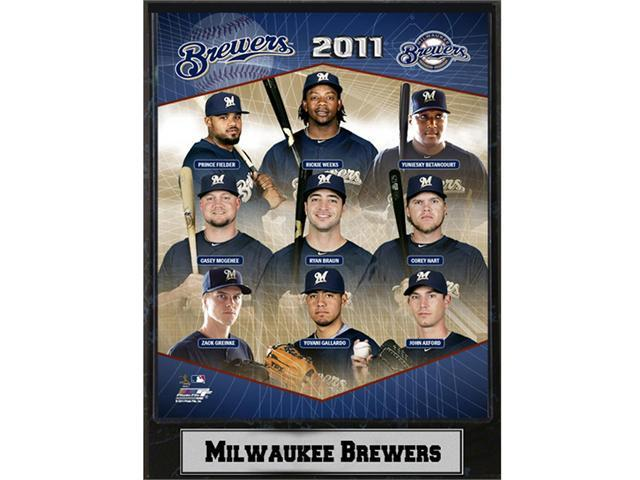 C & I Collectables 1215MB11 MLB Milwaukee Brewers 2011 Team Plaque