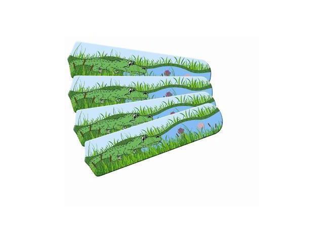 Ceiling Fan Designers 42SET-IMA-AGT Kids Alligator Gator Tale 42 In. Ceiling Fan Blades Only