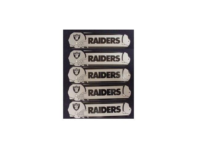 Ceiling Fan Designers 52SET-NFL-OAK NFL Oakland Raiders Football 52 In. Ceiling Fan Blades Only