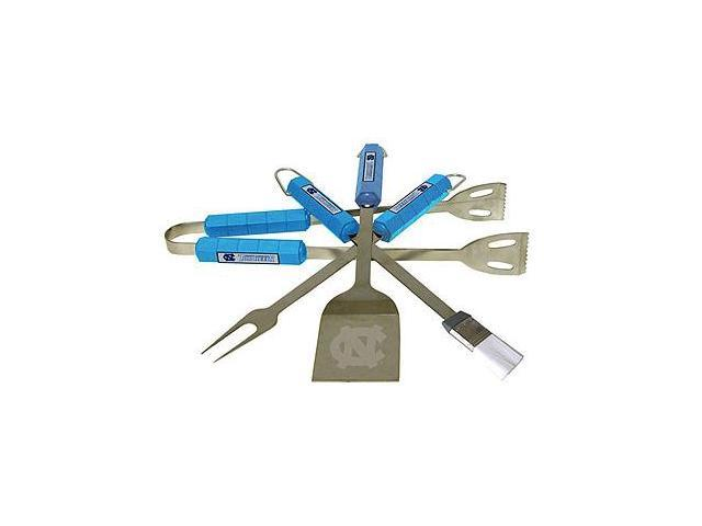 Bsi Products 61008 4 Pc Bbq Set - North Carolina Tar Heels