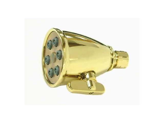Kingston Brass CK138A2 Kingston Brass CK138A2 3 in. Diameter Adjustable Shower Head with 6 Jets, Polished Brass