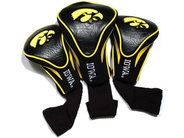 Team Golf 21594 Iowa Hawkeyes 3 Pack Contour Fit Headcover