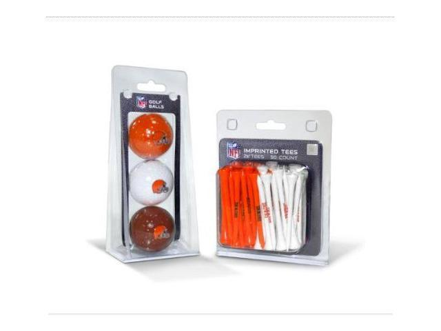 Team Golf 30799 Cleveland Browns 3 Ball Pack and 50 Tee Pack