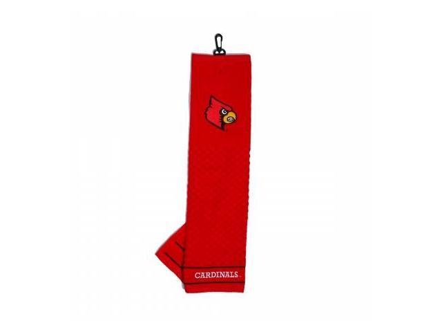 Team Golf 24210 Louisville Cardinals  Embroidered Towel