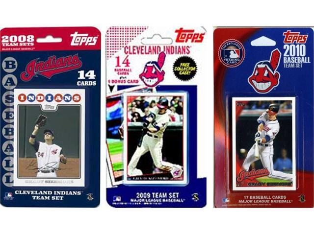 C & I Collectables INDIANS3TS MLB Cleveland Indians 3 Different Licensed Trading Card Team Sets