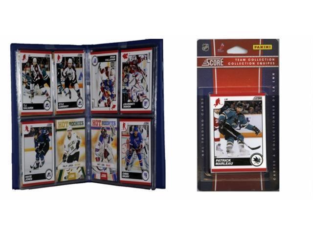 C & I Collectables 2010SHARKSTS NHL San Jose Sharks Licensed 2010 Score Team Set and Storage Album