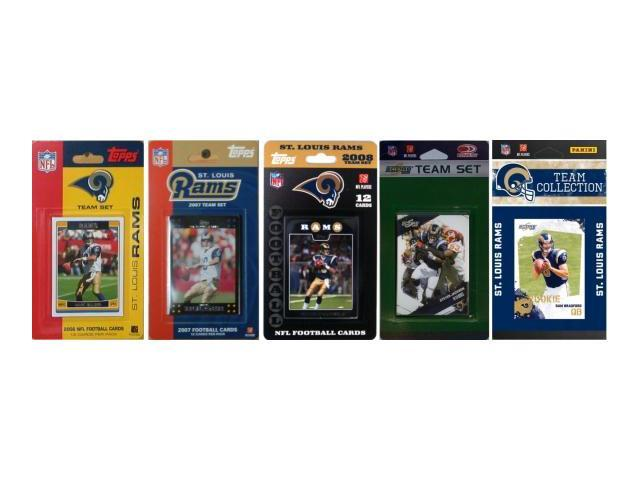 C & I Collectables RAMS5TS NFL Saint Louis Rams 5 Different Licensed Trading Card Team Sets