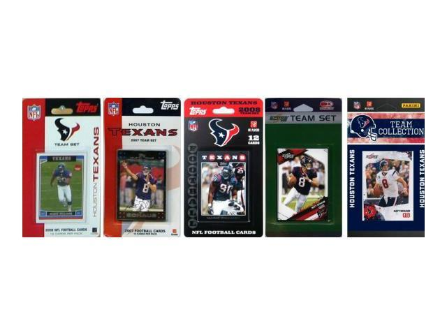C & I Collectables TEXANS5TS NFL Houston Texans 5 Different Licensed Trading Card Team Sets