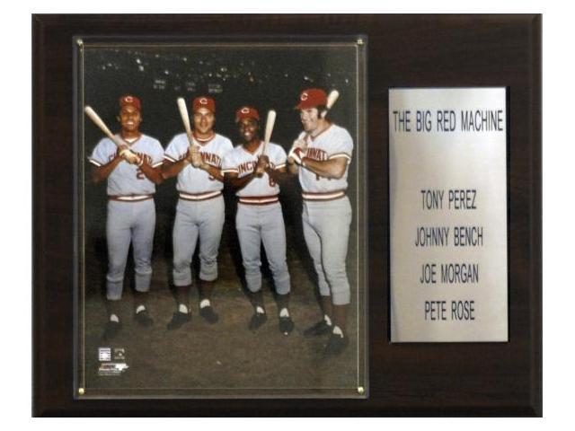 C & I Collectables 1215REDMACH MLB Rose-Bench-Morgan-Perez Cincinnati Reds Player Plaque