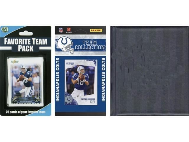 C & I Collectables 2010COLTSTSC NFL Indianapolis Colts Licensed 2010 Score Team Set and Favorite Player Trading Card Pack Plus Storage Album