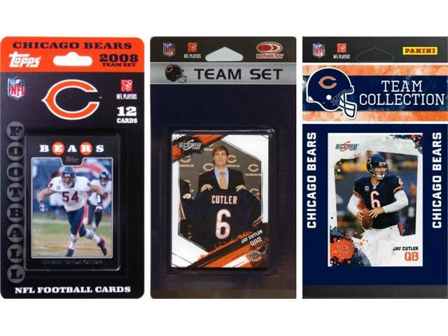 C & I Collectables BEARS3TS NFL Chicago Bears 3 Different Licensed Trading Card Team Sets